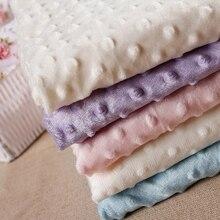 Couleur bonbon Ultrasoft Minky tissu 1 mètre bulle Polyester Micro vison literie couverture coussin matelas couture bricolage matériel
