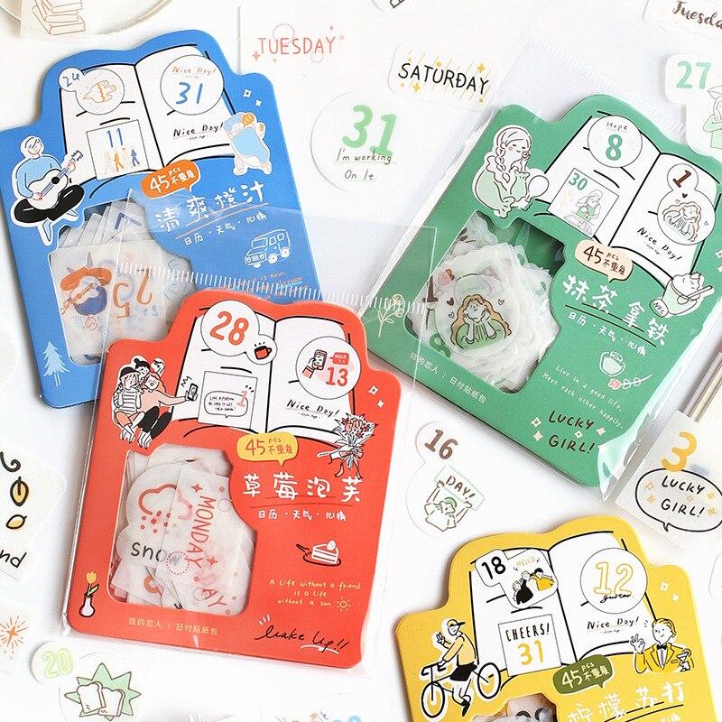45 шт./упак. Kawaii Warm Home стикер для канцелярских товаров Cute альбом для скрапбукинга Журнал Diy Craft декоративная этикетка для детей мальчиков и девочек