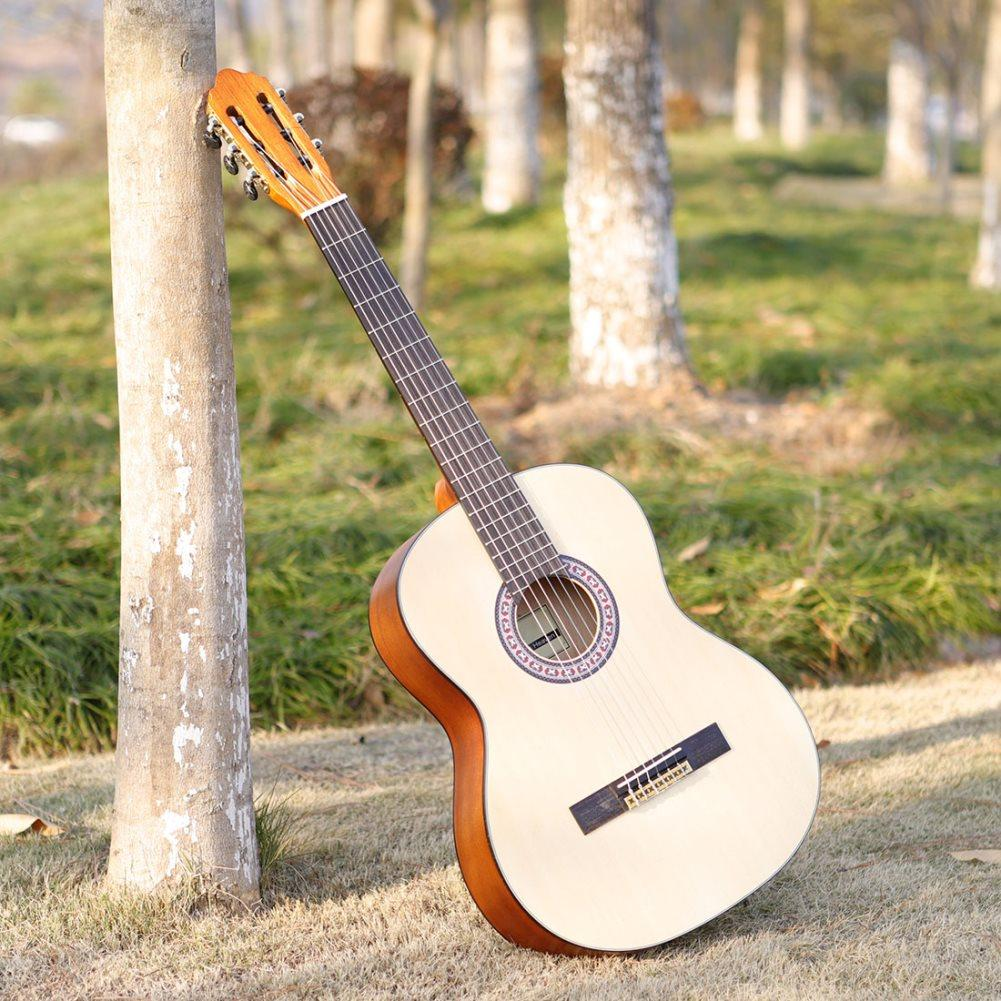 S300 Classical Guitar Round Corner 39inch Spruce Panel String Instrument for Guitar Learners