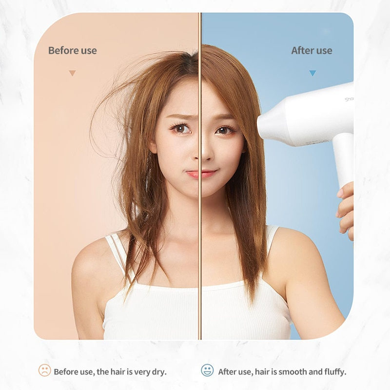 Xiaomi Hair Dryer SHOWSEE A2-W Anion Negative Ion Care Professinal Quick Dry Home 1800W Portable Hairdryer Diffuser Constant enlarge