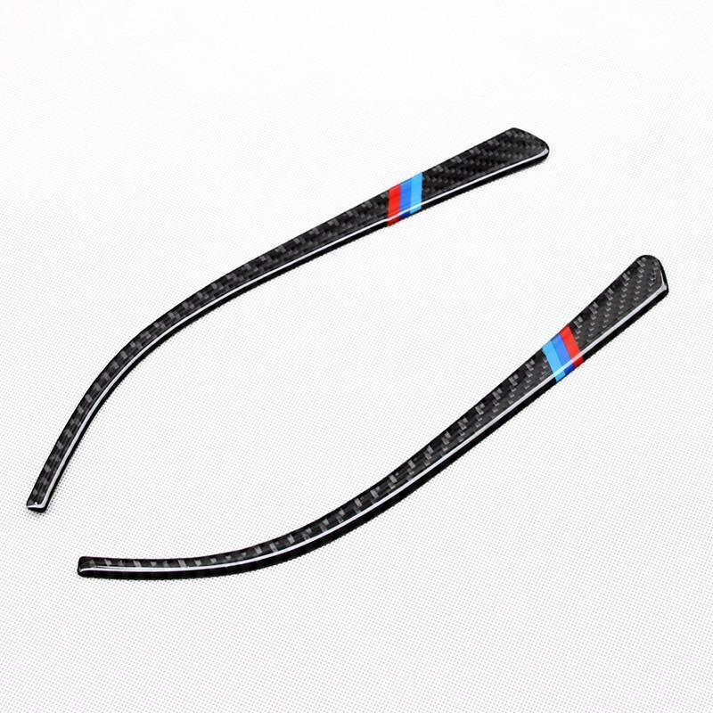 Bande de rétroviseur latéral, garniture en Fiber de carbone de remplacement pour BMW F30, F34, F32, série 3 4