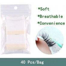 40 Pcs/Bag Makeup Tools Cotton Disposable Eyelash Extension Patch Sticker Removing Soft Breathable L