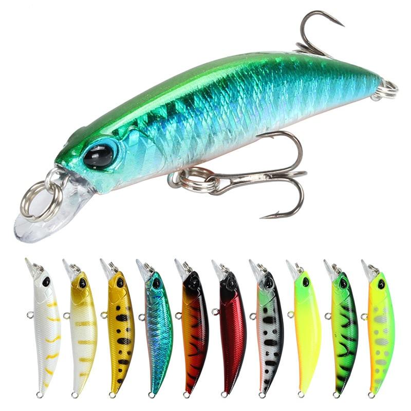 Fishing Lure 65mm 4g 3d Eyes Crankbait Wobbler Artificial Plastic Hard Bait Fishing Tackle Fingerlings Rapala Fishing Lures Aliexpress