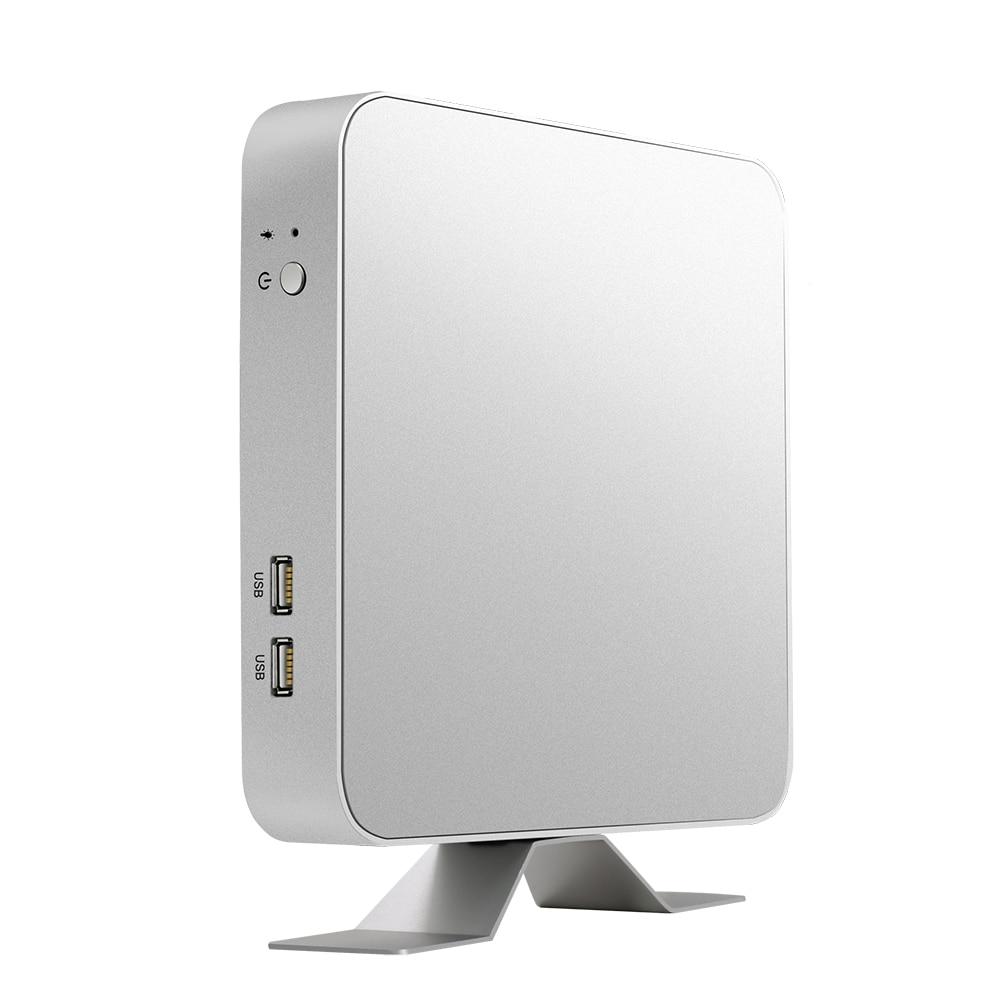 BEBEPC HTPC Mini PC Intel Core i7 7500U Windows 10 Pro Office Computer USB*6 Cooler Fan WiFi HDMI Gaming Mini 4K Desktop TV Box