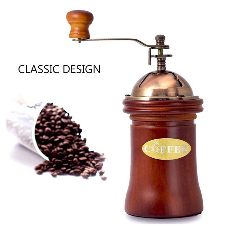 الكلاسيكية اليد مكرنك القهوة الفول آلة دليل طاحونة الغبار الفول مقصورة قابل للتعديل قدرة كبيرة الإبداعية أدوات