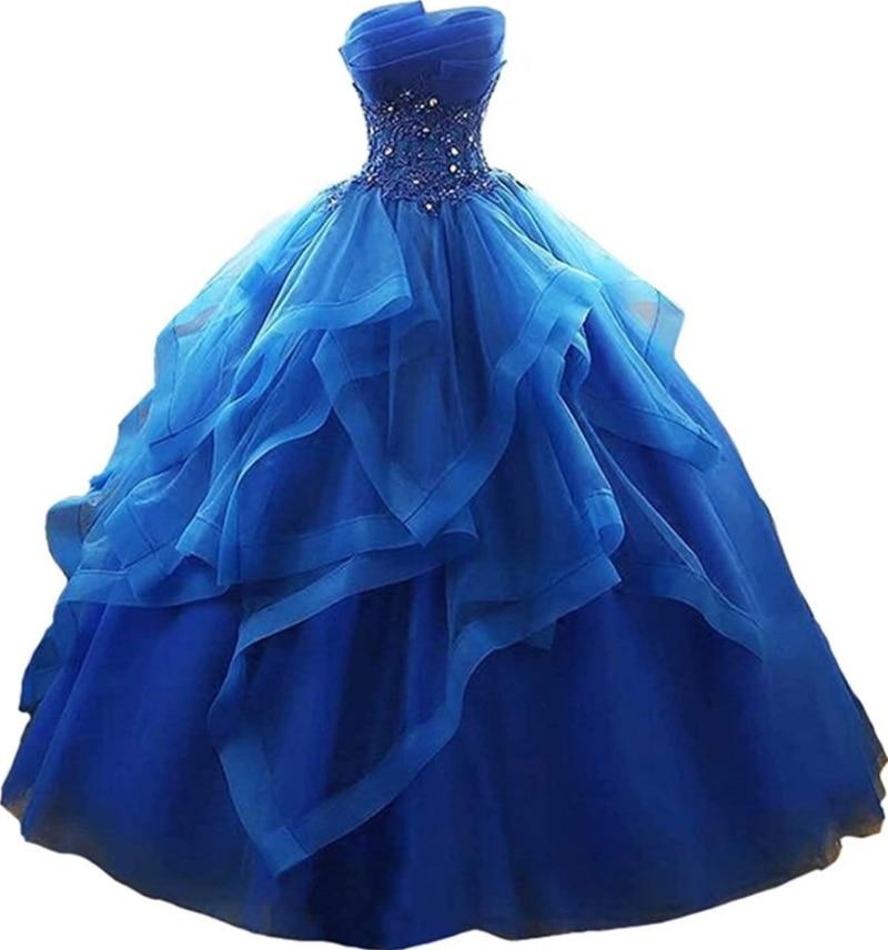 Длинные Выпускные платья с воланами, платья-бара без бретелек, кружевные вышитые бисером платья на выпускной, платья принцессы, платья ...