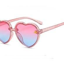 New Heart Rimless Kids Sunglasses Fashion Heart Shape Children Sun Glasses Girls Outdoors Travel UV4