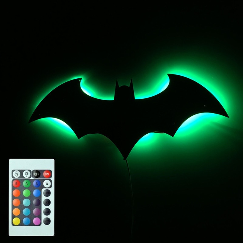 7 Color Mirror Led Remote control Night lamp Veranda Channel Projection Wall lamp Kids Holiday poison Usb Power supply enlarge