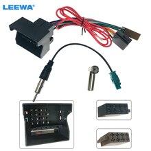 LEEWA Car Stereo Radio ISO Wiring Harness Cable for Volkswagen Passat Bora Golf Touareg Skoda Audi Radio Antten Wire Adapter