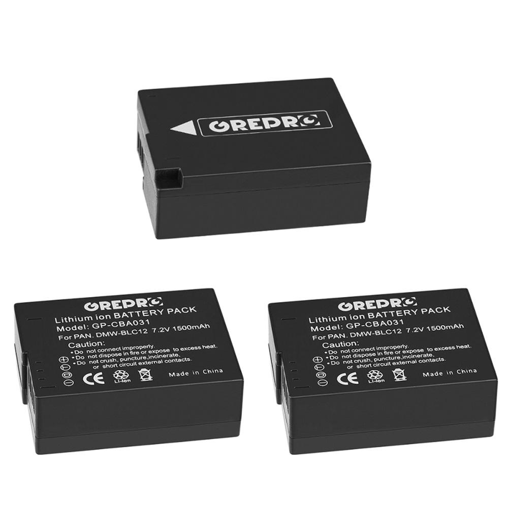 3x1500mAh DMW-BLC12 batería para Panasonic DMW BLC12 BLC12PP BLC12E Lumix DMC FZ1000...