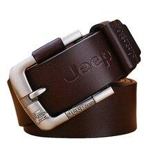 Designer Jeep zero 100% Upper Genuine Leather Alloy Pin Buckle Belt For Men Business Men Belt Fancy