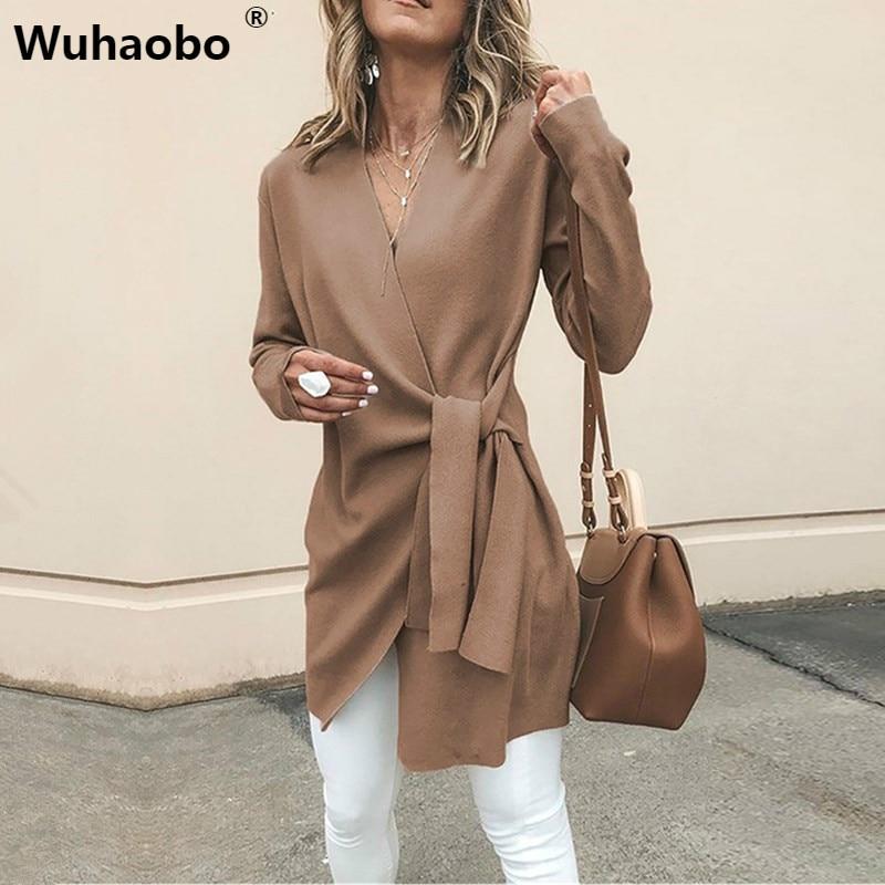 Chaqueta elegante verde de lana y mezcla para mujer, abrigo con cinturón con lazo, ropa de calle a la moda, abrigo holgado de mezcla para mujer con cuello en V
