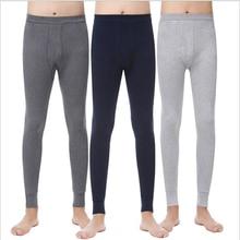 2021 New Men Autumn And Winter Cotton Thermal Underwear Pants 3 Colors Plus Size L- XXXL