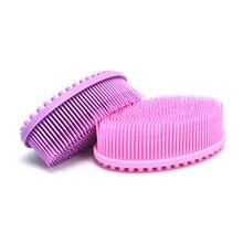 1pcs Silicone Head Body  Scalp Massage Brush Hair Comb Body Shower Brush Bath Spa Slimming Beauty To