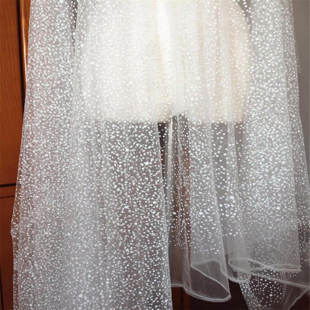 5 ياردة/مجموعة لينة أوف وايت بريق دوت الدانتيل تول ، الزفاف الحجاب ثوب زفاف تنحنح صد الدانتيل الخياطة الحرفية النسيج 150 سنتيمتر واسعة