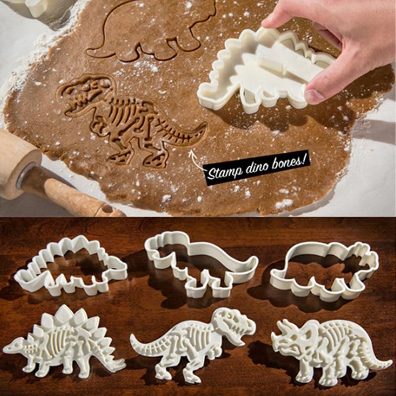 большой динозавр режущие инструменты для печенья, мастики формы динозавра пресс-формы для выпечки торта Кондитерские инструменты резаки д...