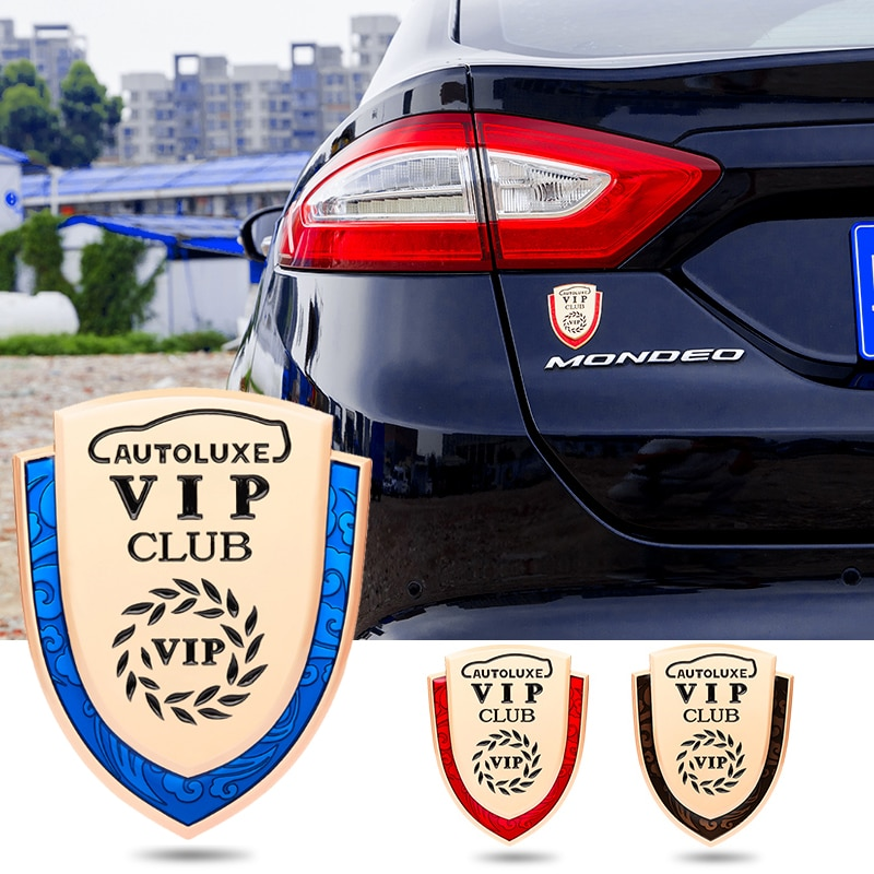 1 Uds escudo 3D pegatinas Metal emblema lateral ventana cuerpo insignia para Honda Audi Toyota Nissan Renault BMW VW Chevrolet Accesorios