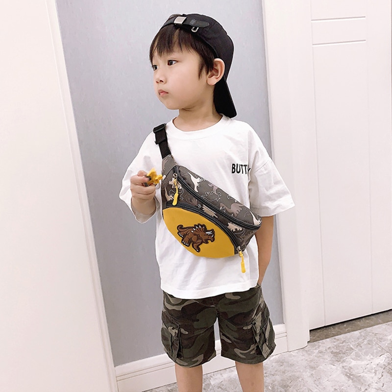 Boy Waist Bags For Kids Chest Bag Dinosaur Girl Fanny Pack High Capacity Funny Bags Cartoons Banana Bags Shoulder Kidney Bags