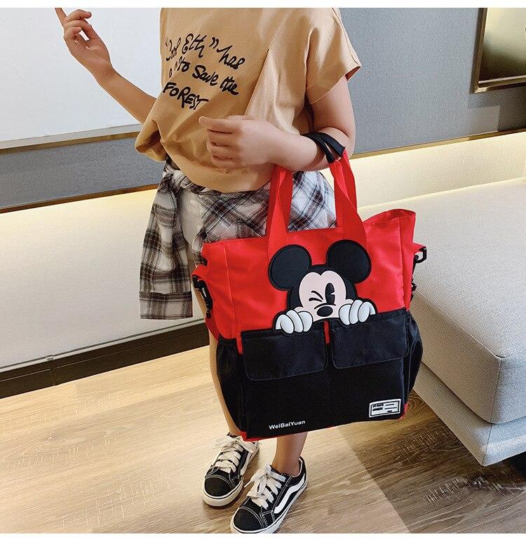 Disney bolso Mickey dama de dibujos animados Bolsa de mujer Bolsa de hombro para las mujeres nueva de almacenamiento de Bolsa de regalo bolso Bolsa Feminina