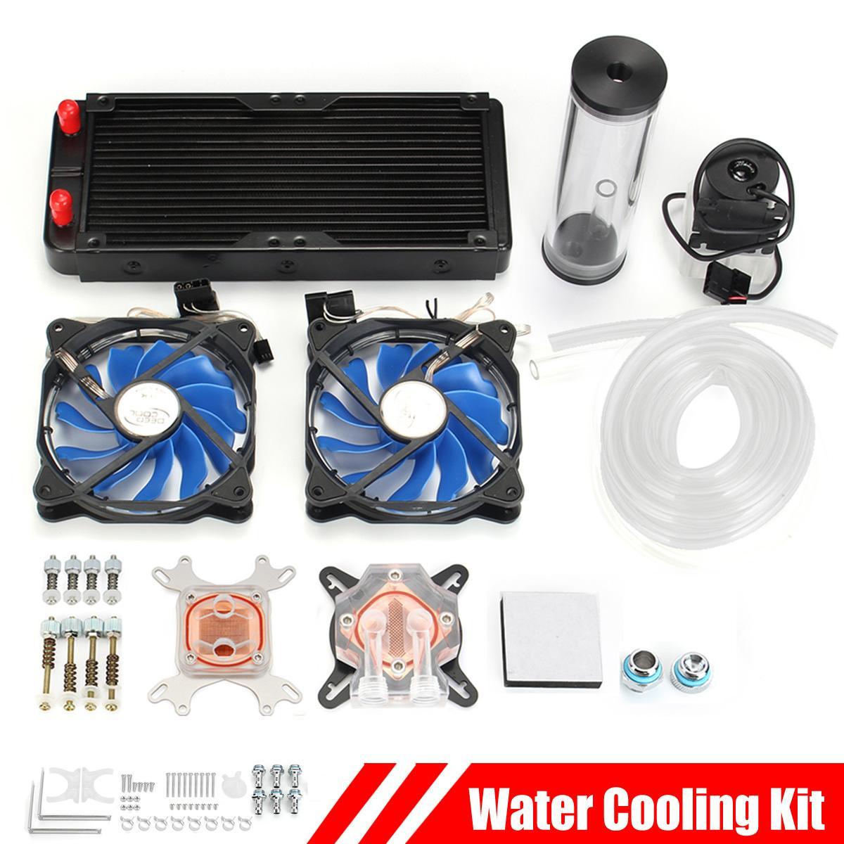 Leory PC, Kit de refrigeración por agua, bomba de radiador de 240mm, bloque de CPU, tubos rígidos, bomba de circulación DIY