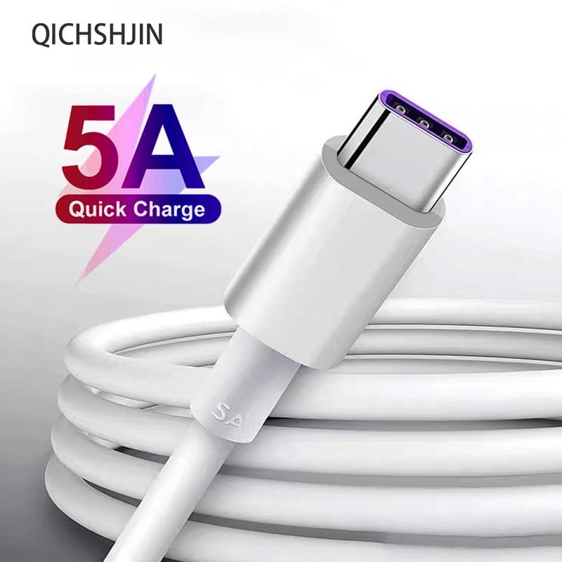 Cable USB tipo C 5A para móvil, Cable de carga rápida blanco...