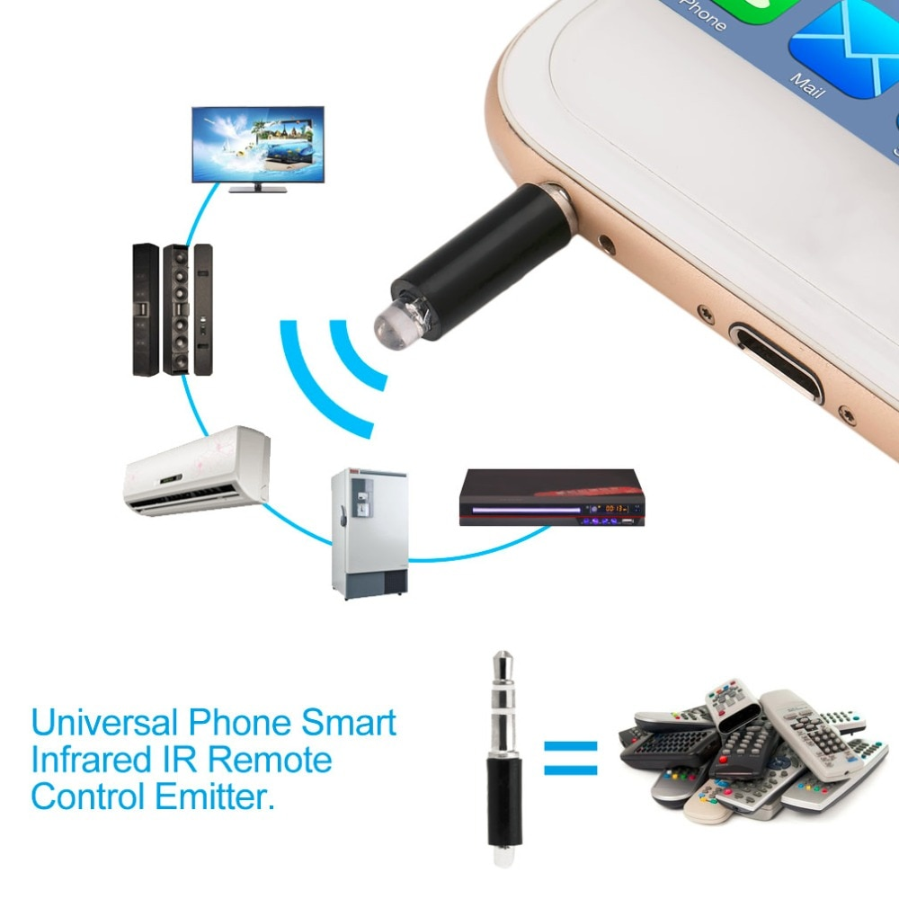 14w ir remote control red Universal 3.5mm Mini Intelligent Remote Control Plug Mobile Phone Smart Infrared IR Remote Control Jack For iPhone IOS Android
