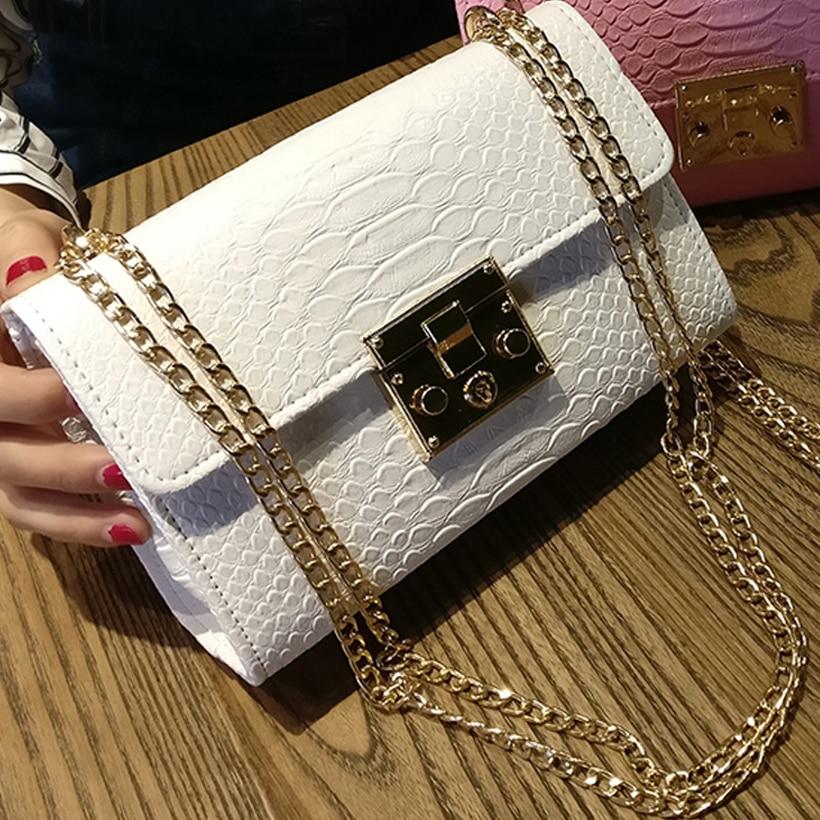 Fashion Ladies Crocodile Flap Bag Designer Handbags Women Bags 2021 Black White Small Day Clutch Gold Chain Girls Crossbody Bags