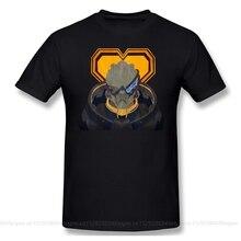 Men Mass Effect science fiction RPG T-Shirts Funny Round Neck Short Sleeve Tops N7 Keep Garrus Pure Cotton Tees Harajuku tShirt