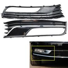 Auto avant gauche droite pare-chocs antibrouillard Chrome gril couverture pour VW Passat B7 2012 2013 2014 2015 3AD853665 3AD853666 antibrouillard fil