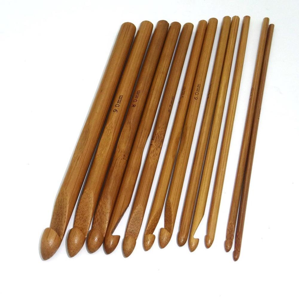12 sztuk/zestaw bambusowe szydełko hak splot wełny Craft szydełka do kapelusza Scarve rzemiosło artystyczne akcesoria do szycia