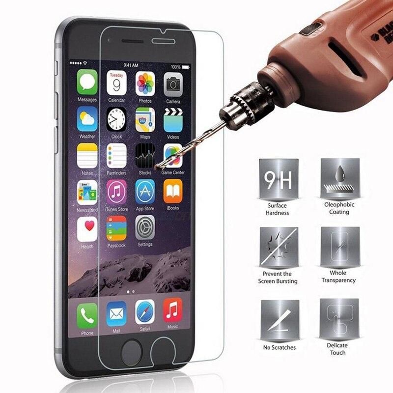 Cristal templado 9H para iPhone 5 5s SE 6 6s 6 7 8 Plus 4 4s... película protectora de pantalla para iPhone XR X XS 11 1