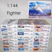 1: 144 Fighter Militaire Plastic Montage Vliegtuigen Model 25 Soorten Te Kiezen