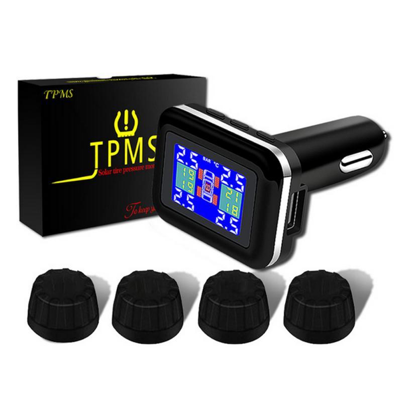 Cargador USB para coche, pantalla LED, enchufe de mechero, adaptador de corriente de carga rápida, sistema de Monitor de presión de neumáticos TPMS de calibre USB