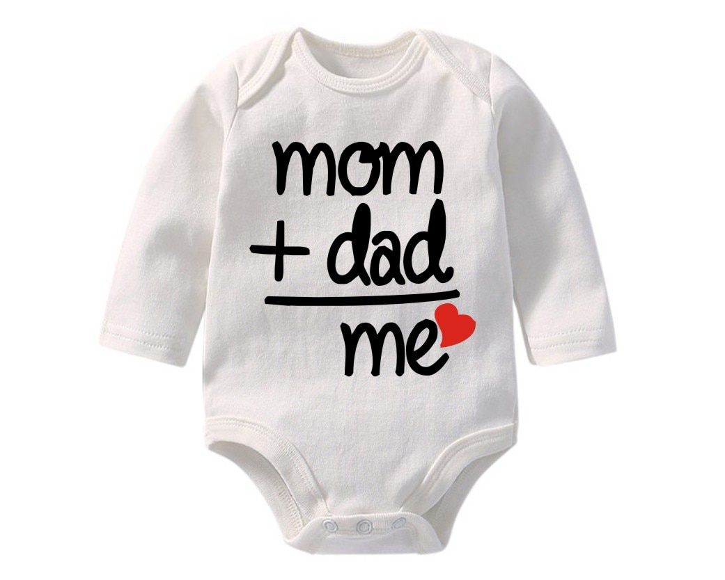 100% algodón recién nacido Bebé Ropa Infantil mamá papá me imprimir mono de manga larga mono bebé onesie BR-1901