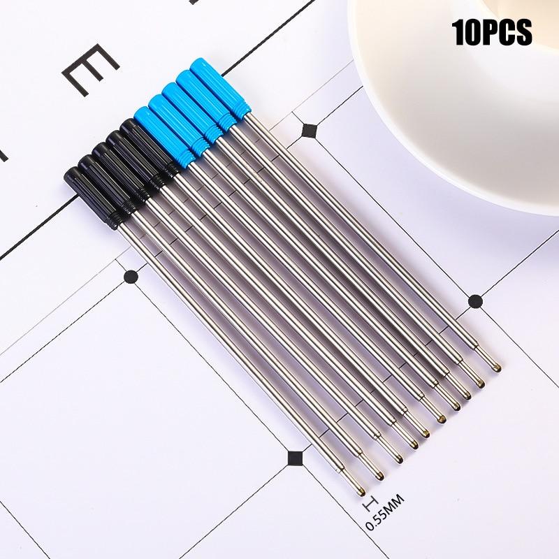 10 шт./лот вращающаяся металлическая ручка, заправка, специальная шариковая ручка, заправка стержня, картридж