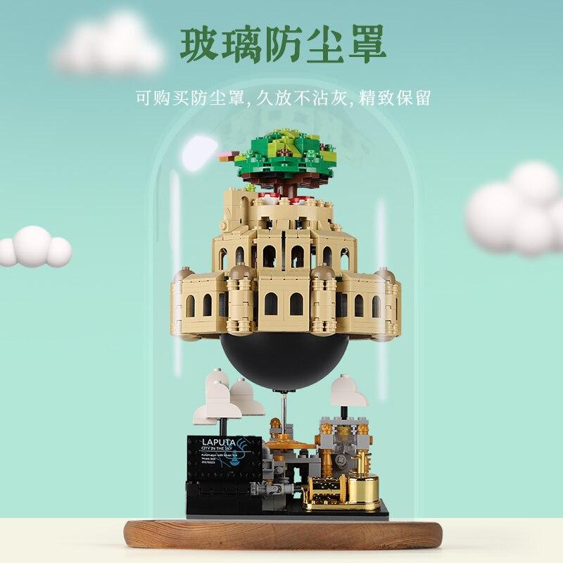 XingBao замок город неба архитектура подлинный креативный MOC строительные блоки музыкальная шкатулка ребенок совместимый xb05001 техника игрушки