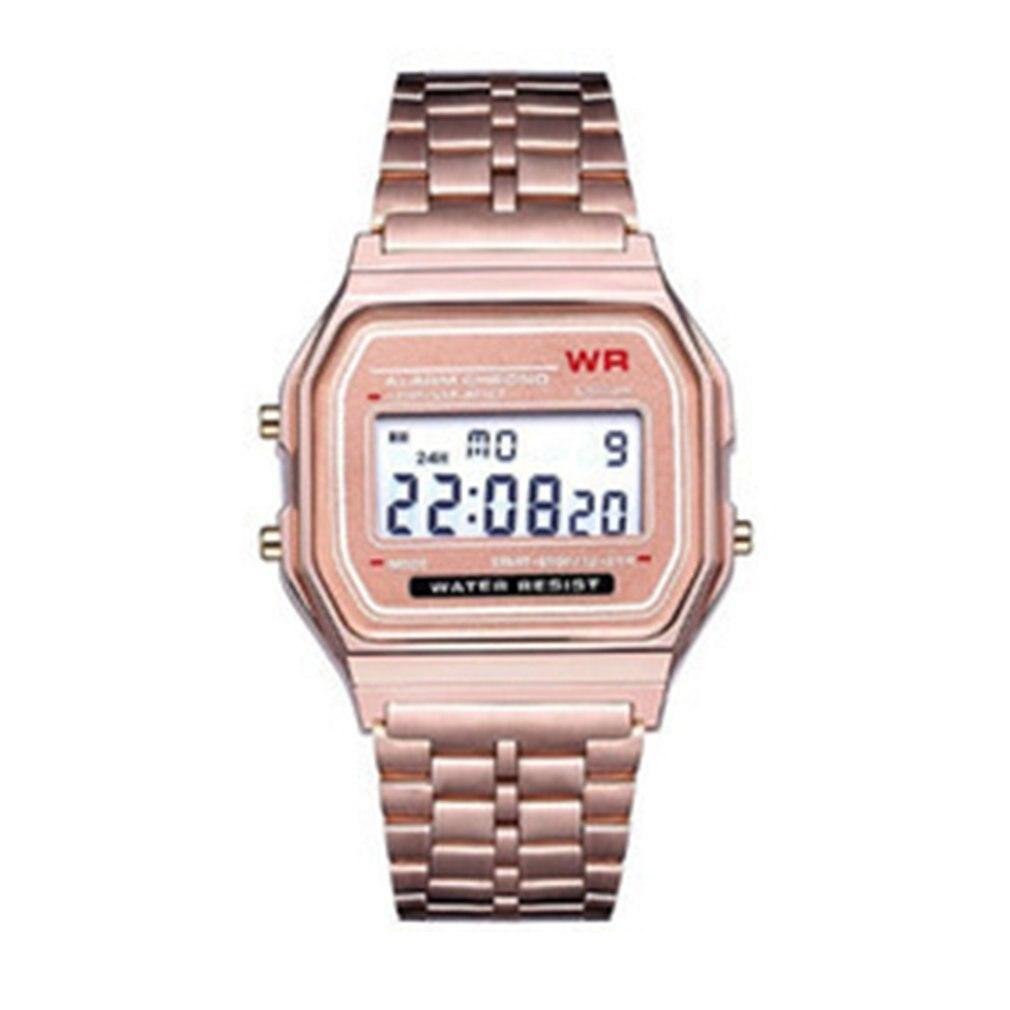 דק F91w ילדים ספורט אלקטרוני שעונים מעורר ילדים שעון נירוסטה רצועת גברים שעונים עבור ילד ילד ילדה מתנה
