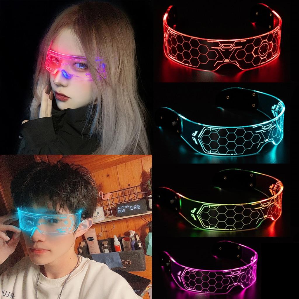 LED Visor DJ Eyeglasses Colorful Luminous Glasses For Bar KTV Christmas Festival Birthday New Year Glow Party Supply Decoration