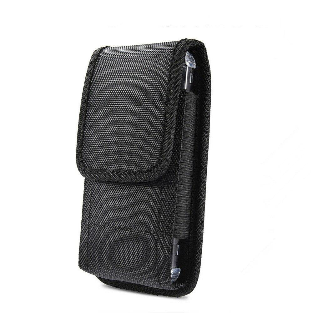 Bolso informal negro para teléfono para hombre, bolso clásico para colgar en la cintura, bolsa Oxford con Clip para cinturón, funda para iPhone, riñonera, envío directo