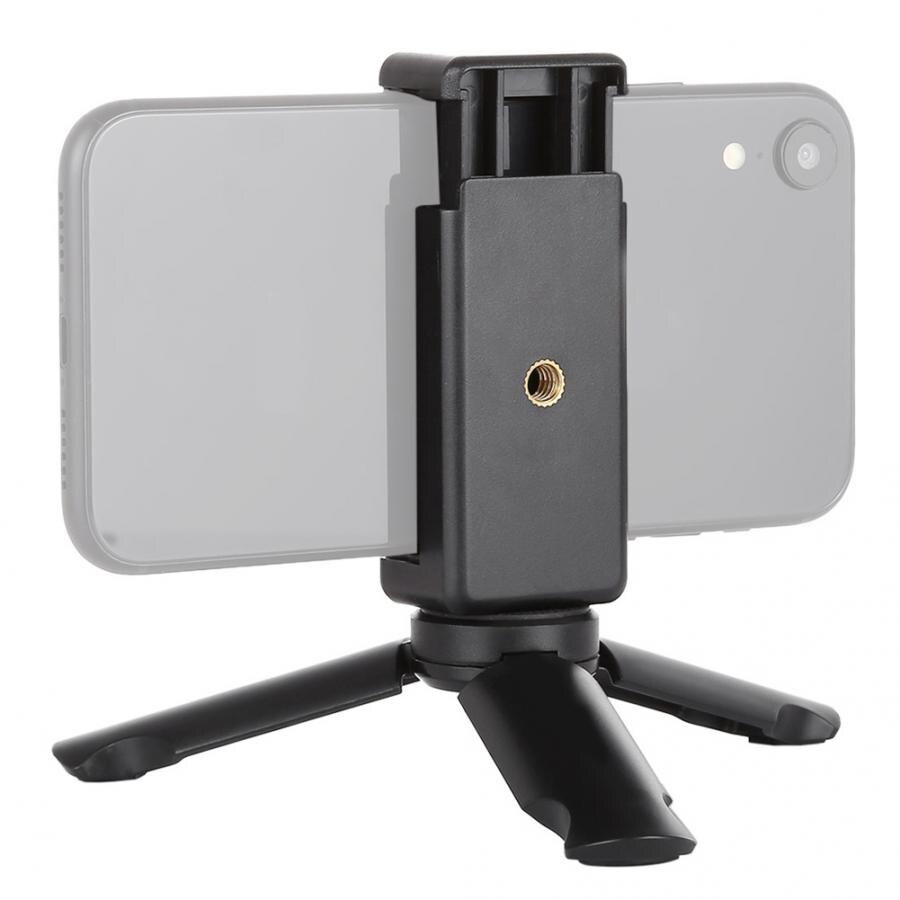 Nuevo mini trípode monopod PULUZ Mini Smartphone Clip de abrazadera plegable teléfono estable soporte de montaje trípode tripode camara