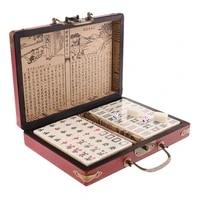 decoration jewelry storage box chinese antique mahjong jong set for