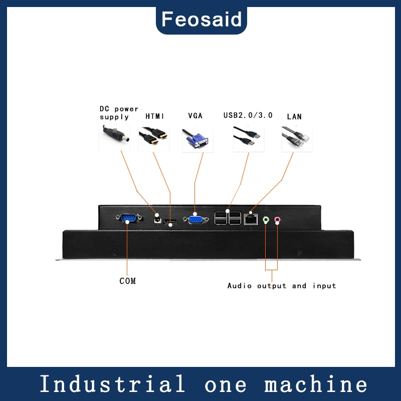 21.5 inch Embedded capacitive touch industrial computer, 4G RAM 32G SSD core J1800/i3/i5/i7, All-in-one computer with win7/win8 enlarge