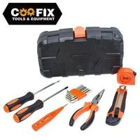 coofix 15pcs hand tool set general household repair kit set auto repair mixed tool storage case screwdriver knife