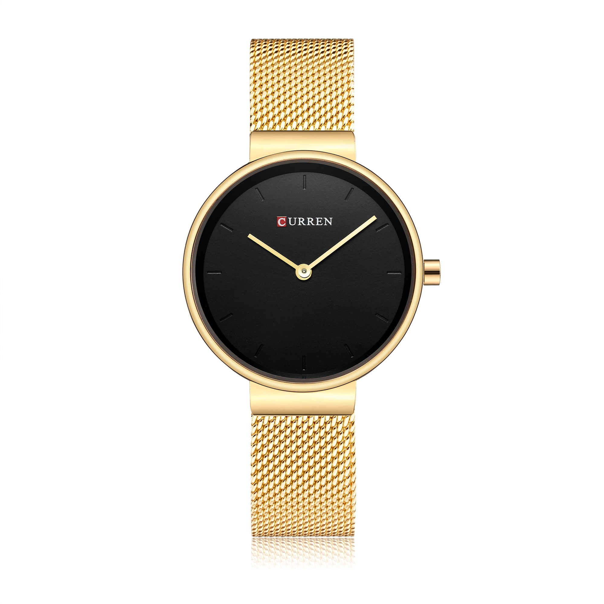 CURREN Ladies Watch 2019 Luxury Women's Watch Modern Fashion Mesh Quartz Wristwatch Water Resistant Black Dial Bayan Kol Saati enlarge