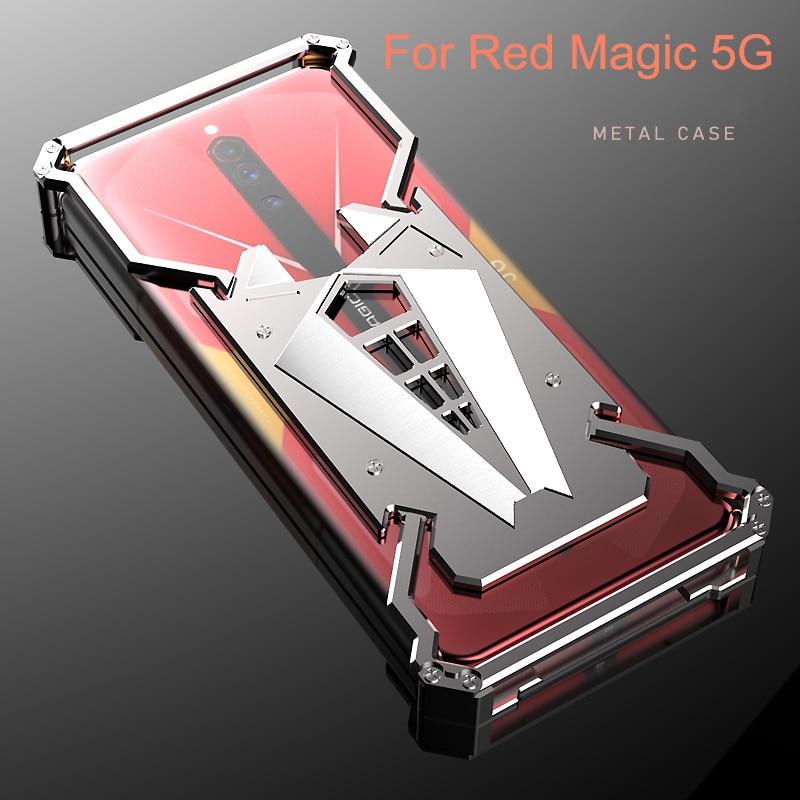 Para Nubia Red Magic 5G NX659J 2020, nueva funda, carcasa trasera con marco de Metal, carcasa RedMagic 5G, carcasas transparentes de aluminio