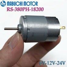 MABUCHI RS-380PH-18200 cc 6V 12V 18V 24V Mini brosse en carbone longue durée moteur muet