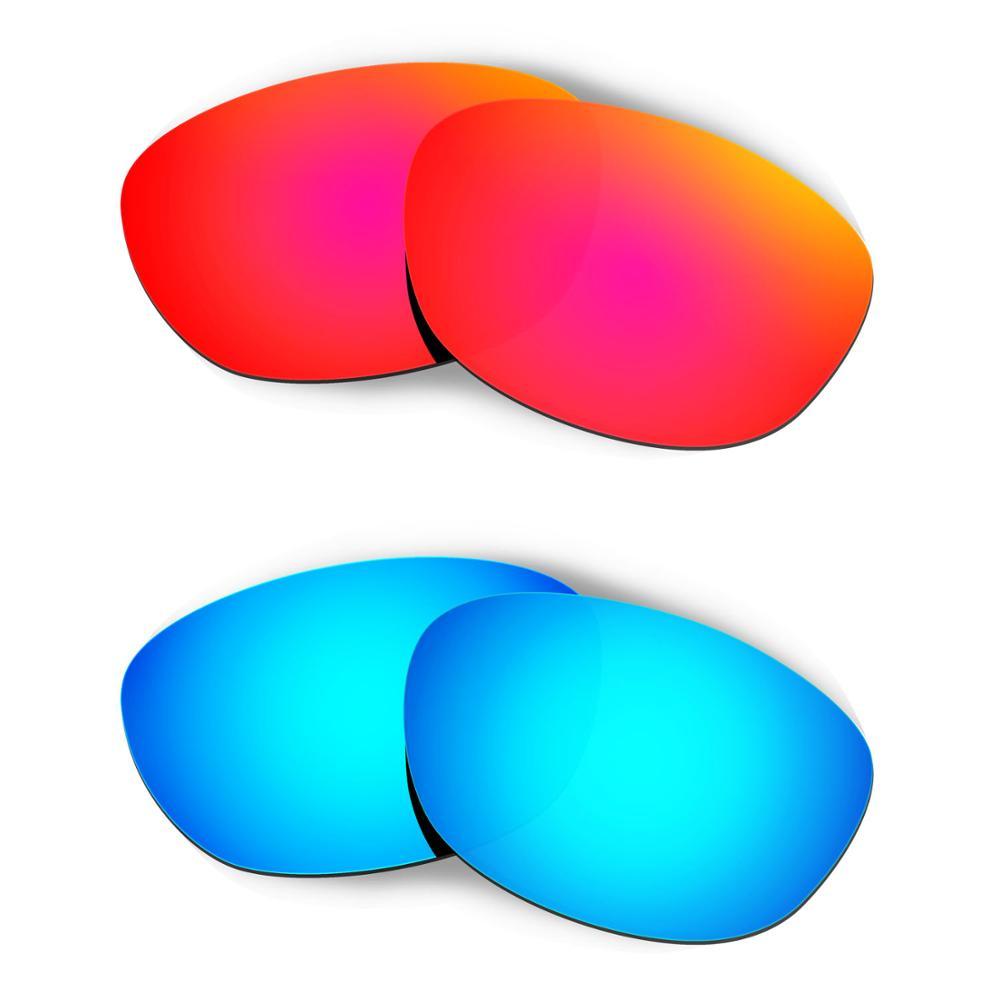 HKUCO ل الخمسات 2.0 النظارات الشمسية استبدال العدسات المستقطبة 2 أزواج-الأحمر والأزرق