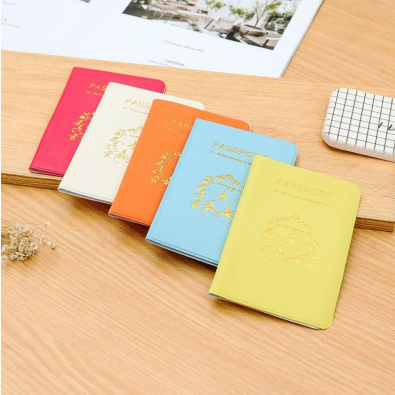 Women Men Passport Cover  Card Holder Multi-Function Cute ID Bank Card Bag PU Leather Wallet Case Travel Accessories fashion genuine leather function card case business card holder men women credit passport card bag id passport card wallet