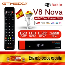 GTMEDIA V8 NOVA DVB-S2 Freesat uydu TV alıcısı FTA dekoder desteği PowerVu Biss anahtar IPTV 2 yıl cccam clinesV8 nova