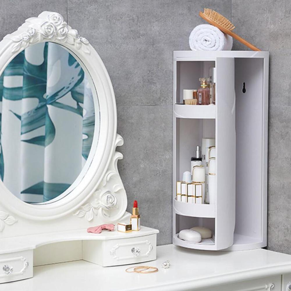 صندوق تخزين للحمام المرحاض مستحضرات التجميل لوازم الحمام قابل للتدوير ، متعدد الوظائف بسيط نمط صندوق تخزين
